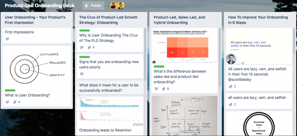 Trello Productled onboarding
